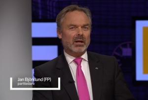 Jan Björklund och den rosa slipsen.