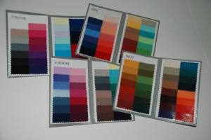 Kartor som visar de olika färgskalorna.