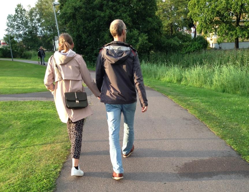 Par med funktionsjacka